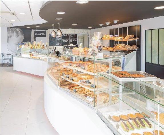 Vitrine pour Boulangerie - pâtisserie