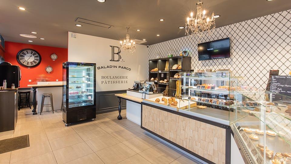 Réalisations vitrines Boulangerie – Pâtisserie / Vitrine boulangerie - Balad'in Parco / 2