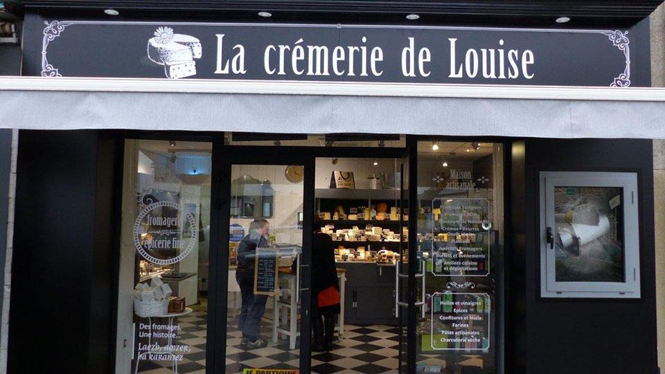 Réalisations vitrines Fromagerie – Crèmerie / Crémerie de Louise / 2